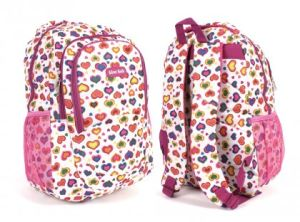 Fashion 600d Heart Printed Backpack pictures & photos
