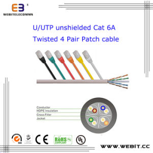 U/UTP Unshielded Cat 6A Twisted 4 Pair Patch Cable pictures & photos