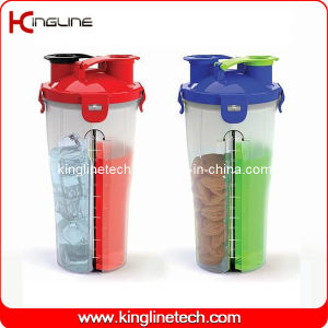 Hydra Cup 700ml Plastic Dual Shaker Bottle BPA Free (KL-7015) pictures & photos