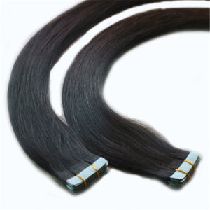 Wholesale Tape Human Hair Extension Prebonded Hair Natural Color pictures & photos