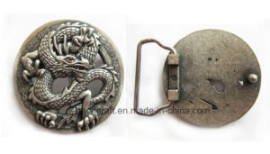 Buckle with 3D Dragon in Pewter Finishing