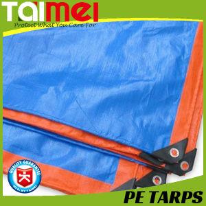 Orange/Blue Heavy Duty PE Tarpaulin pictures & photos