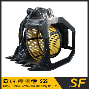 Excavator Spare Parts of Rotating Sieve Bucket pictures & photos