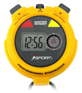 Water Resistant Digital Stopwatch with Unique Movement Mechanism