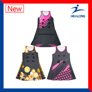 Sublimation Sport Wear Custom Netball Dress pictures & photos