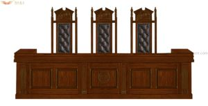 High Quality Court Judge Desk Table for Court pictures & photos