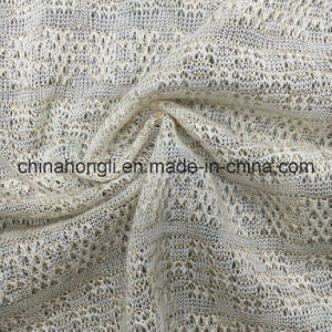 Acrylic/Lurex 67/33, 95GSM Light Shiny Knitting Fabric for Lady′s Garment pictures & photos