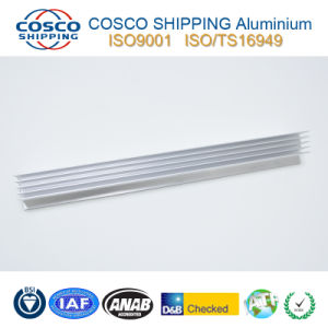 Powder Coating Aluminum Extrusion for Building Material with CNC Machining pictures & photos