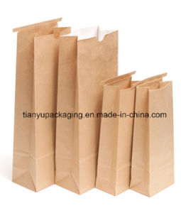Greaseproof Stand up Brown Kraft Paper Bag for Food pictures & photos