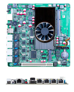 Mini-ITX Firewall Motherboard Onboard Atom D2550 with 4*LAN, 2*COM
