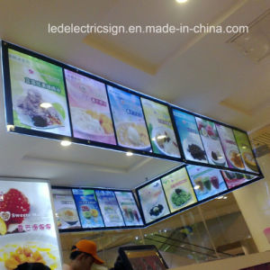 Advertising Display LED Picture Frame for Menu Board pictures & photos