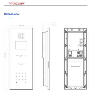 Dahua Outdoor Station IP65 Door Intercom (VTO1220BW) pictures & photos