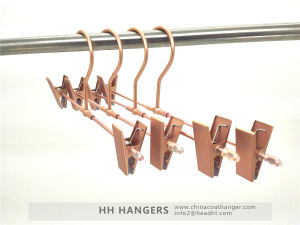 Rose Copper Gold Aluminium Trousers Skirt Metal Hanger pictures & photos