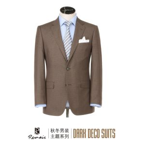 OEM Classic Fit Two Buttons Men′s Business Suit pictures & photos