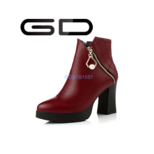 Platform Quality Ladies Fashion Ankle Boots for 2017 pictures & photos