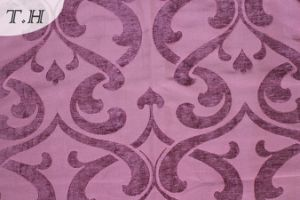 Purple PC Dyed Viscose Hote Sale Chenille Fabric (fth31944) pictures & photos
