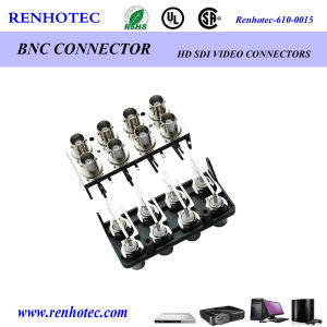 BNC Female R/a PCB Mounting Audio Connector pictures & photos