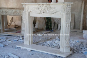 Natural Beige Travertine Marble Fireplace (SY-MF321) pictures & photos