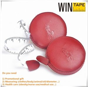200cm/79inch Advertising Branded Tailoring Leather Measuring Tape Factory with OEM Service pictures & photos