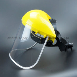 Top Sell Face Shield Ce En166 Certificate PVC Visor with Ratchet Suspension (FS4014) pictures & photos
