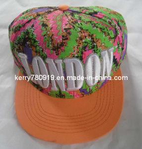 Colorful Flat Brim Floral Snapback Cap pictures & photos