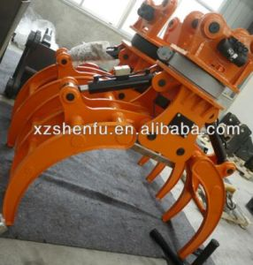 Log Grab Rotating Grab Hydraulic Rotating Grapple for Excavator pictures & photos