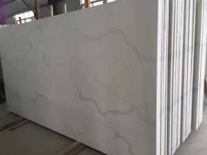 Calacatta White Marble Color Quartz Stone for Tops and Tiles pictures & photos