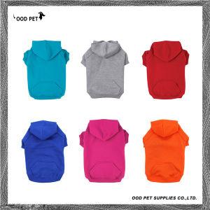 Plain Dog Hoodies Kangaroo Pocket and Leash Holes Basic Dog Shirts Personalized Logo Printed or Embroidered Dog Clothing Sph6001-6 pictures & photos