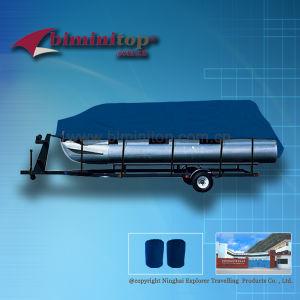 Blue Waterproof Pontoon Boat Covers (ECP600-C)