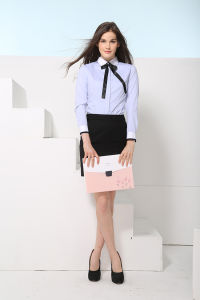 New Design Women′s Slim Fit Formal Office Wear Shirt---Md1a7984 pictures & photos