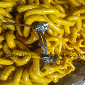 Welded G80 Steel Chain Link with Painted Yellow (6mm-42mm) for Lifting pictures & photos