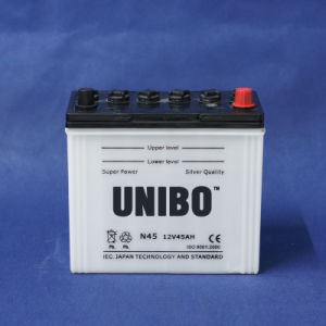 High Quality JIS Standard Dry Charged N4512V45ah Car Battery pictures & photos