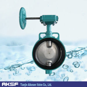Butterfly Valve in Aluminium Alloy Body with Handle Wheel pictures & photos