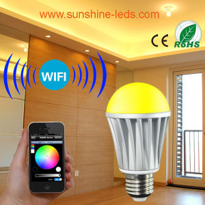 7W Wireless RGB/RGBW LED WiFi/Blue Teeth Bulb with Controller pictures & photos