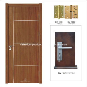 (PVC-M-022) New Designs Interior Wooden /MDF PVC Door