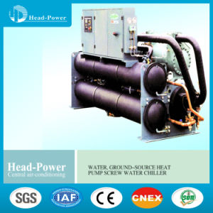 Water Cooled Screw Full Liquid Chillers Water Source Heat Pump Ground Source Unit pictures & photos