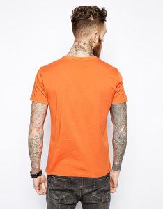 Custom Men′s Summer Orange Printed T Shirt pictures & photos