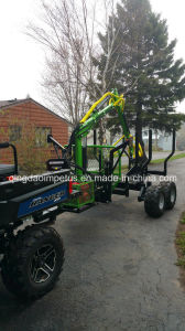 USA Hot Selling 3 Ton Log Trailier with Crane for UTV pictures & photos