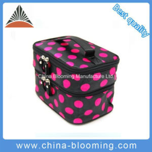 Printed Satin Makeup Storage Organizer Toiletry Travel Beauty Cosmetic Bag pictures & photos