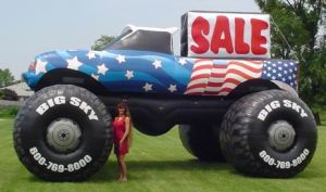 Inflatable Monster Truck Toy
