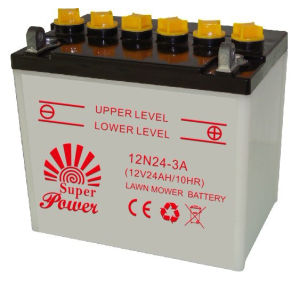 Lawn Mower Battery 12V24ah with CE UL Certificate pictures & photos