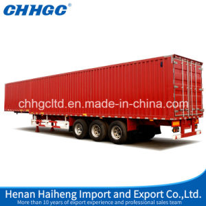 3 Axles Cargo Box Semi Trailer/Curtain Side Van Type Semi Trailer pictures & photos