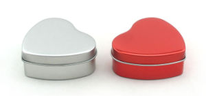 Small Heart Shape Tin Box for Candy and Chocolate pictures & photos