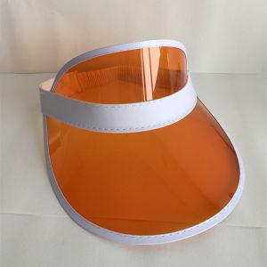 Promotional Leather Trimed Cheap PVC Transparent Sun Visor pictures & photos