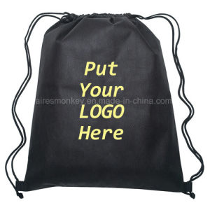 Custom Polyester Drawstring Bag with Your Logo pictures & photos