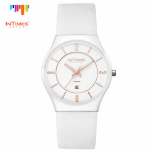 Intimes It-2101L Women Ceramic Watch Leather Strap 50m Water Proof
