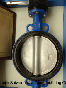Quctile Iron Square Grooved Seat Wafer Type Butterfly Valves pictures & photos