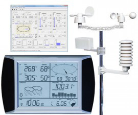Solar Wireless Professional Touch Screen Weather Station with PC Interface pictures & photos