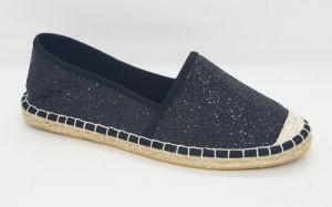 Women′s Glitter Flat Espadrille Shoes pictures & photos