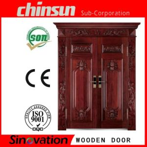 Classical Split Solid Wood Composite Door pictures & photos